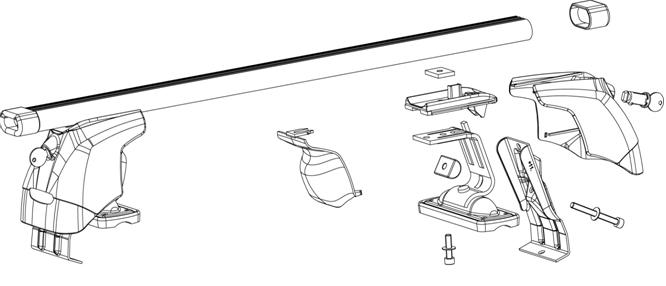 dachtr ger f r ford fiesta 5 t rer grundtr ger ebay. Black Bedroom Furniture Sets. Home Design Ideas